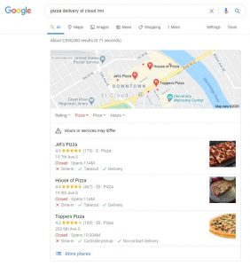 Local SEO for Pizza Delivery